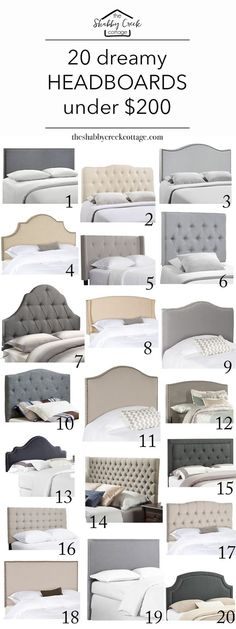 Home Interior Bedroom Love these headboards - gorgeous and on budget! Interior Bedroom Love these headboards - gorgeous and on budget! Home Bedroom, Room Decor Bedroom, Bedroom Furniture, Diy Furniture, Master Bedrooms, Gray Bedroom, Trendy Bedroom, Spare Bedroom Ideas On A Budget, Classy Bedroom Ideas