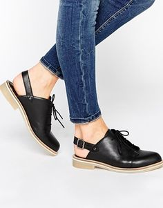 Zapatos de cuero con cordones MAP READER de ASOS