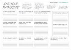 This writing worksheet also works for your real-life antagonists! |