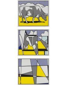 Roy Lichtenstein Cow Going Abstract, 1985