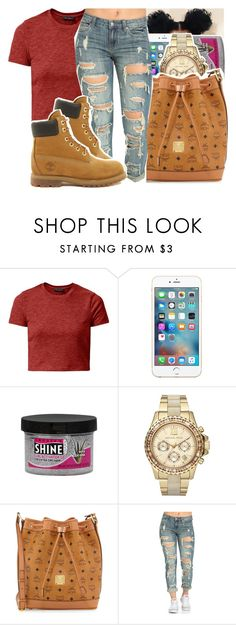 """""""11•24•2O16"""" by arionce ❤ liked on Polyvore featuring Smooth 'N Shine Polishing, Michael Kors, MCM and Timberland"""