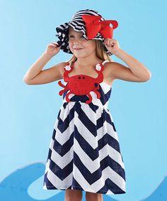 Look at this #zulilyfind! Black & White Crab Dress - Infant by Mud Pie #zulilyfinds