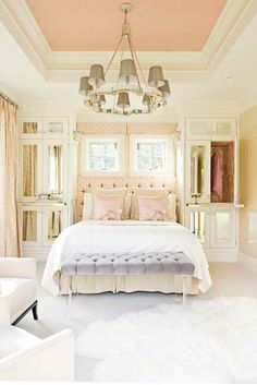 pink bedroom  #HomeandGarden