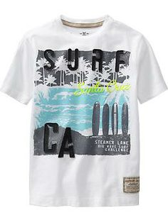 Boys Premium Surf-Graphic Tees