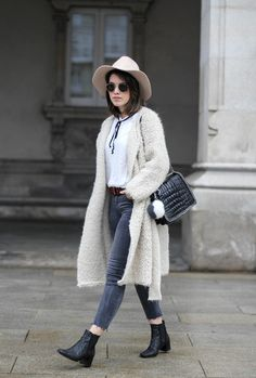 glitter booties, mohair jacket and bow blouse look. myblueberrynightsblog streetstyle