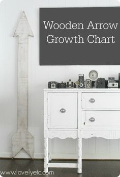 Giant Wooden Arrow Growth Chart - Lovely Etc.