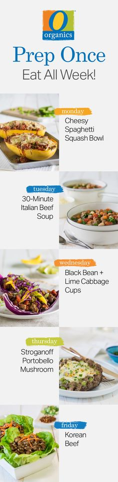 Pack on the protein with these five healthy and simple meal prepped recipes, featuring O Organics® beef!