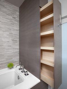 fo shizzle! Now THAT'S some bathroom storage (via Best Builders Ltd.)