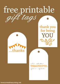 These free printable gift tags are adorable! Use them for hostess gifts, neighbor gifts or teacher gift!s! So many great uses!