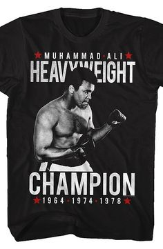 Muhammad Ali T-Shirt This popular celebrity boxer made boxing history on and out of the ring.  Kids and parents alike enjoyed his candor and humor.