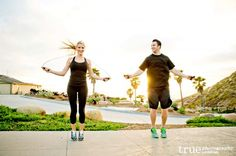 Or through ropes: | 23 Awesomely Athletic Ideas For Engagement Photos