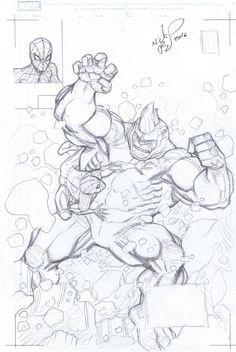 Spider-Man Prelim by Nick Bradshaw Comic Art