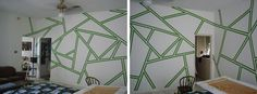 painters tape for wall designs - stained glass design