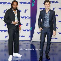 Kendrick Lamar in Prada & Shawn Mendes in Armani at the 2017 MTV Video Music Awards Mens