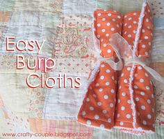 crafty couple: Diy Easy Burp Cloths