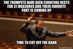 always always always before the trumpets
