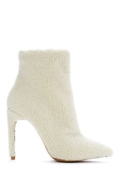 Jeffrey Campbell Vain Shearling Bootie | Shop Booties at Nasty Gal
