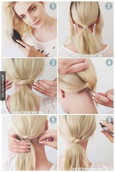 cute little twist over a ponytail