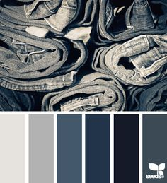 Design Seeds color palette for denim jeans Hue Color, Colour Pallette, Color Palate, Colour Schemes, Color Combos, Color Patterns, Colours, Color Concept, Exterior Paint Combinations