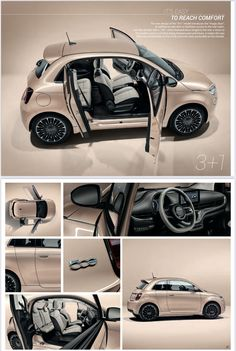 Fiat 500 electric , 3+1 Fiat 500e, Jeep, Electric, Vehicles, Car, Automobile, Rolling Stock, Jeeps, Vehicle