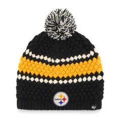 Shop the Official Steelers Pro Shop for Pittsburgh Steelers  47 Brand  Women s Leslie Beanie Knit b82768c4638