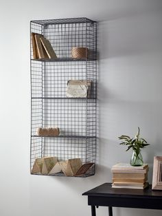 Stylish and practical, our wire wall rack has four shelves and handy keyholes to…