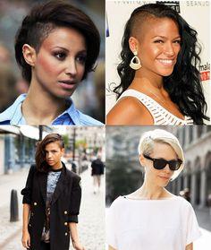 Você teria coragem de raspar o cabelo assim?