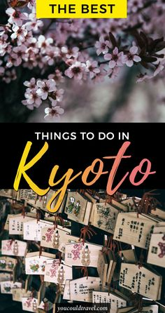 The best things to do in Kyoto (you won't want to miss) - Visiting Kyoto and looking for things to do in the city? Here are the best things to do in Kyoto with some recommendations being completely off the beaten path. Get to know Kyoto and learn about its culture, history and don't forget to enjoy the culinary delights it has to offer. Here's what to do in Kyoto. #kyoto #japan