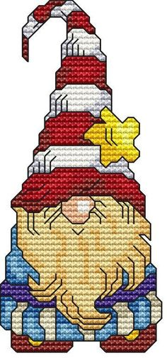 Holiday Gnome 2 Cross Stitch Pattern Fun Modern Design for Holiday Season Instant Download pdf - Santa Christmas Winter Seasons Gnome Elf by StitchXCrossStitch on Etsy