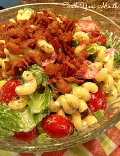 South Your Mouth: Ranch BLT Pasta Salad