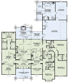First Floor Plan of Country Craftsman House Plan Layout of our dream home! Bedroom House Plans, House Floor Plans, Porch Fireplace, Home Theater Rooms, Craftsman Style House Plans, House Extensions, Loft Spaces, Large Bedroom, House Layouts