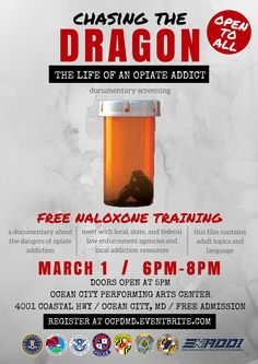 Free Naloxone Training on Wednesday March 1, 2017... Read More! #oceancitycool