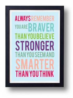 You are Brave- Inspirational Quote-