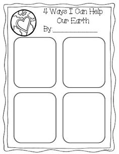 Earth Day freebie from Miss Kindergarten - I like it!