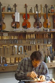 Master guitar maker workshop (and violins, I guess)