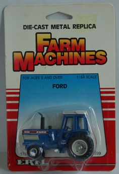Vintage Diecast Toy Cab Farm Tractor TW 35 Ertl  1980's 1/64 NOS by MountainViewVintage on Etsy