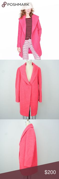 J Crew Collection Shawl Collar Coat M Pink Wool J Crew Collection Womens Shawl Collar Coat Jacket Sz M Pink Boucle Wool Blend  Description  Material: 50% wool, 50% polyester Size: M  Measurements (in inches):  Shoulder: 15 Armpit-to-armpit: 20 Length: 36 Sleeve: 25 **All our products come from a clean and smoke-free household.** J. Crew Jackets & Coats