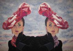 Hats, 85 x 110 cm, myyty Finland, Fiber Art, Textiles, Hats, Painting, Hat, String Art, Painting Art, Paintings