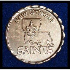 *RARE* NEW ORLEANS SAINTS MARDI GRAS DOUBLOON NFL FOOTBALL 2009 WORLD CHAMPIONS - $3.99