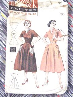 50s Butterick 6837 Dress Pattern  Bust 36 inches by Fancywork, $14.00