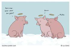 the mcrib is back, btw.    Hog Heaven.  © Liz Climo