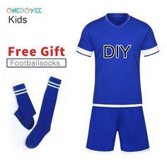 4096f6e70 ONEDOYEE Boys Football Jerseys Soccer Uniform Kids Football Kit Training  Suits Jersey Customize Breathable Children Soccer Sets