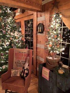 primitive christmas decor | ... Christmas on Pinterest | Country Christmas, Primitive Christmas and
