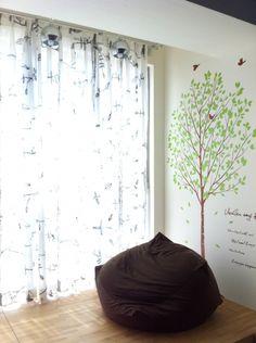 Living wall decor tree sandbag sofa