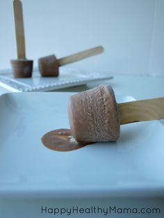 Easy 3-ingredient fudge pops.  5 minutes to prep and super healthy!