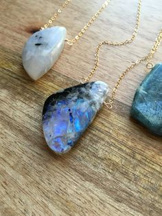 Moonstone Necklace Moonstone Moonstone by CatchingWildflowers