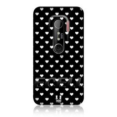 Ecell - HEAD CASE DESIGNS HEARTS BLACK AND WHITE PATTERN BACK CASE COVER FOR HTC EVO 3D by Ecell,