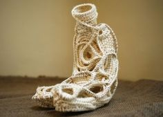 Judy Tadman is a rope sculptor who creates large-scale abstract works using crocheting techniques. Recently, she has moved more toward captu...