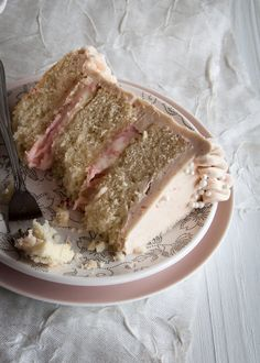 Rhubarb Ginger Layer Cake with Rhubarb Buttercream