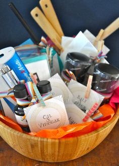 "Here's another fun version of the ""Perfect Pair"" gift basket to check out. Let the bride and groom know that ""You go together like…"""